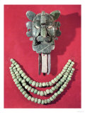 Zapotec Pectoral in the Form of a Mask Representing the Bat God, Piquete Zina, from Monte Alban Giclee Print