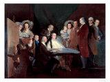 The Family of the Infante Don Luis De Borbon, 1783-84 Giclee Print by Francisco de Goya