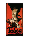 Poster Advertising a Performance of Tosca, 1899 Lámina giclée por Adolfo Hohenstein