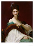 La Comtesse De Keller, 1873 Giclee Print by Alexandre Cabanel