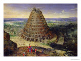 The Tower of Babel, 1594 Giclée-Druck von Lucas van Valckenborch
