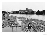 The Oder at Breslau (Modern Day Wroclaw) Poland, circa 1910 Reproduction proc&#233;d&#233; gicl&#233;e par Jousset 