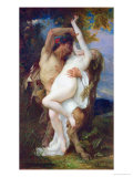 Nymph Abducted by a Faun, 1860 Giclee Print by Alexandre Cabanel