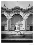 Portico and Fountain at the Universal Exhibition, Paris, 1889 Giclee Print by Adolphe Giraudon