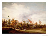 A Battle Scene, 1653 Giclee Print by Salomon van Ruysdael