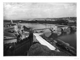 View of St. Benezet Bridge and the City Walls, Avignon Giclee Print