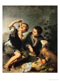 Children Eating a Pie, 1670-75 Premium Giclee Print by Bartolome Esteban Murillo