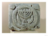 Relief Depicting a Menorah, from Umm Qeis (Ancient Gadara) Jordan (Basalt) Giclee Print