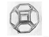 "Polyhedron, from ""De Divina Proportione"" by Luca Pacioli, Published 1509, Venice Giclee Print by  Leonardo da Vinci"