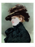 Portrait of Mery Laurent (1849-1900) 1882 Giclee Print by Édouard Manet