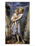 Brother and Sister, Two Orphans of the Siege of Paris in 1870-71 Giclee Print by Jean-Baptiste Carpeaux