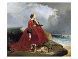 Empress Eugenie (1826-1920) at Biarritz, 1858 Giclee Print by E. Defonds