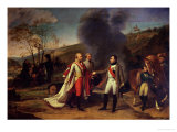 Napoleon I (1769-1821) and Francis I (1768-1835) after the Battle of Austerlitz, 4th December 1805 Giclee Print by Antoine-Jean Gros