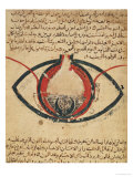 Anatomy of the Eye, from a Book on Eye Diseases Giclee Print by  Al-Mutadibi
