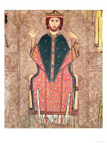 St. Martin of Tours, from an Altar Frontal from the Church of Sant Marti in Gia, Ribagorca Workshop Giclee Print