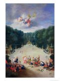 The Groves of Versailles. View of the Arc De Triomphe and France Triumphant with Nymphs Giclee Print by Jean Cotelle the Younger