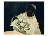 Olympia, Detail of the Black Servant, 1863 Giclee Print by Édouard Manet