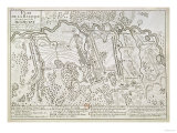 Plan of the Battle of Blenheim Between the Imperial Army and Franco-Bavarian Army, 13 August 1704 Giclee Print