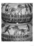 Attic Black-Figure Dinos Depicting Charioteers, circa 590 BC Giclee Print
