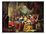 Music Party in a Palatial Interior with Statues and Works of Art Gicl&#233;e-Druck von Franz Xavier Hendrick Verbeeck