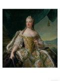 Dauphine Marie-Josephe De Saxe (1731-67) 1751 Giclee Print by Jean-Marc Nattier