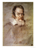 Portrait of Galileo Galilei (1564-1642) Astronomer and Physicist Giclee Print by Ottavio Mario Leoni