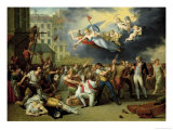Massacre of the Marquis De Pellepont, 14th July 1789 Giclee Print by Charles Thevenin