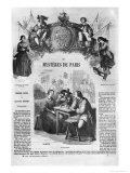 """A Tavern, Illustration from """"Les Mysteres De Paris"""" by Eugene Sue (1804-57), Published 1851 Giclee Print by Jean Adolphe Beauce"""