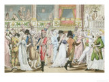 Costume Ball at the Opera, after 1800 Giclee Print by Jean Francois Bosio