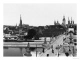 The Old Bridge over the River Main at Wurzburg, circa 1910 Premium Giclee Print by  Jousset
