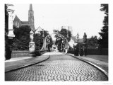 Bridge to the Cathedral, Breslau (Modern Day Wroclaw) Poland, circa 1910 Reproduction proc&#233;d&#233; gicl&#233;e par Jousset 