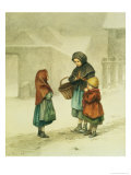Conversation in the Snow Giclee Print by Pierre Edouard Frere