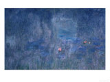 Waterlilies: Reflections of Trees, Detail from the Central Section, 1915-26 Giclee Print by Claude Monet