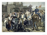 "The Miner's Strike in Carmaux, from ""Le Petit Journal,"" 1st October 1892 Giclee Print by Alfred Roll"