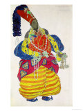 "The Great Eunuch, Costume Design for Diaghilev's Production of the Ballet ""Scheherazade,"" 1910 Giclee Print by Leon Bakst"