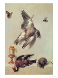 Still Life of Dead Birds and a Mouse, 1712 Giclee Print by Jean-Baptiste Oudry