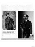 Two Portraits of George Eastman (1854-1932) 1884 and 1890 Giclee Print