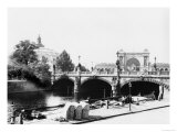 View of the Moltke Bridge and Lehrter Bahnhof Station, Berlin, circa 1910 Giclee Print by  Jousset