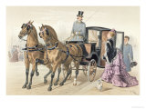 English Horses Giclee Print by Albert Adam