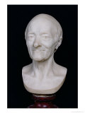 Bust of Voltaire (1694-1778) Without His Wig, 1778 Giclee Print by Jean-Antoine Houdon