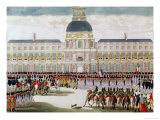 Parade in the Courtyard of the Palais Des Tuileries in the Presence of the Emperor Giclee Print by Thomas Naudet