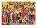 Altarpiece of the Seven Joys of the Virgin, of the Adoration of the Magi Giclee Print by Master of the Holy Family