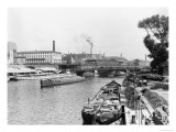View of the River Spree, Berlin, circa 1910 Reproduction proc&#233;d&#233; gicl&#233;e par Jousset 