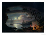 Teignmouth by Moonlight Giclee Print by Thomas Luny