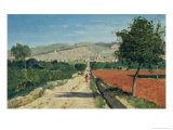 Landscape in Provence. View from Saint-Saturnin-D'Apt, 1867 Giclee Print by Paul Camille Guigou