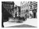 St. Georgs- Brunnen, Rothenburg Ob Der Tauber, circa 1910 Giclee Print by  Jousset