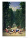 The Groves of Versailles: View of the Maze with Diana and Her Nymphs, 1688 Giclee Print by Jean Cotelle the Younger