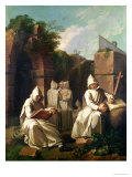 Carthusian Monks in Meditation Giclee Print by Etienne Jeaurat