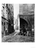 Rue Des Marmousets, from Rue Saint-Landry, Paris, 1858-78 Giclee Print by Charles Marville