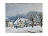 The Place Du Chenil at Marly-Le-Roi, Snow, 1876 Premium Giclee Print by Alfred Sisley